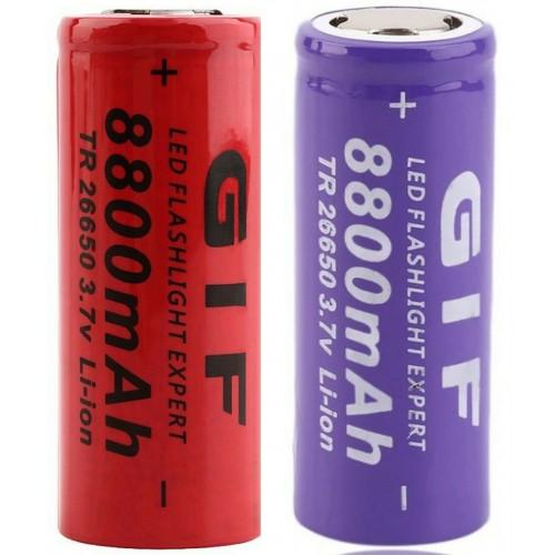 1 2 3 4 5 6 10 BATTERIE 26650 3.7V 8800 Mah per RICARICABILE PILE torcia led