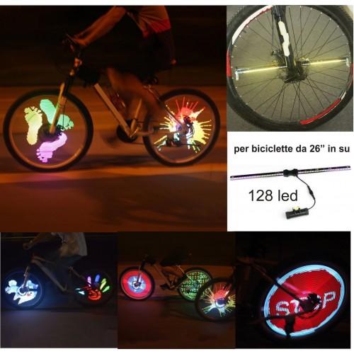 1 Pz RGB luci 128 led variopinto della gomma Flash per motociclo bicicletta car