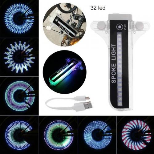 1 Pz RGB luci 32 led per raggi ruota della gomma Flash per moto bicicletta car
