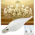 10Pz LAMPADINA LED candela E27 E14 220V 5W 7W 9W lampada luce risparmio energia