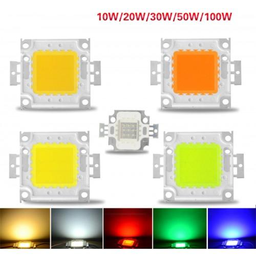 10W 20W 30W 50W 100W RGB LED CHIP integrato DC 9-12-36V per Lampada proiettore