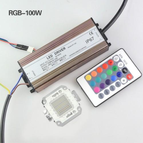 10W 20W 30W 50W 100W RGB SMD LED CHIP integrato DC 9-12V + set Driver controller
