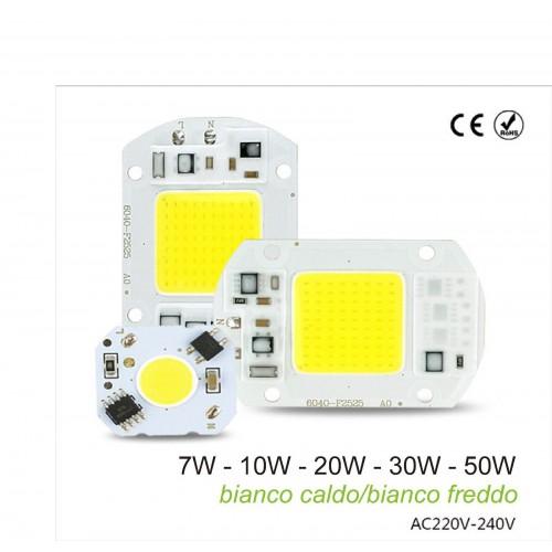10W 20W 30W 50W LED CHIP integrato DIY COB 110 - 220 V per Lampada proiettore