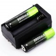 10pz BATTERIE ricaricabili 3.7V 9900Mah PILE TORCIA avvitator 1pz caricabatterie