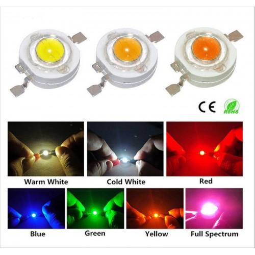 10pz lampadine led Perline 1W 3W lampada Chip integrato per riflettore RGB luci
