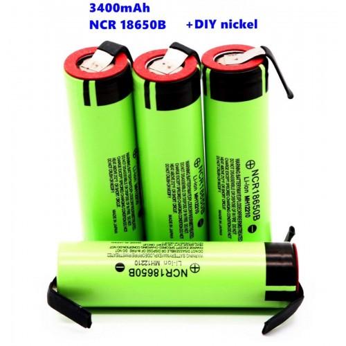 2 4 10 BATTERIE NCR18650B 3.7V 3400Mah per Panasonic RICARICABILE PILE torcia