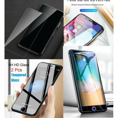 2 PZ pellicola vetro temperato HD per Apple iphone 5 6 7 8 Plus X XS Max 11 Pro