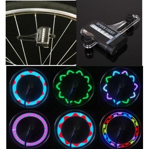 2 Pz RGB luci a led variopinto della gomma Flash per motociclo bicicletta car