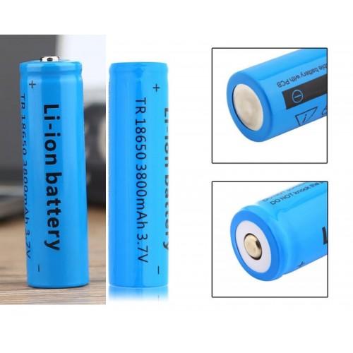 2 X BATTERIA 18650 3.7V 3800Mah RICARICABILE PILE TORCIA batterie AVVITATORE led