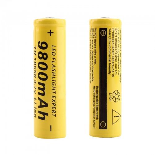 2 X BATTERIA 18650 3.7V 9800Mah RICARICABILE PILE TORCIA batterie AVVITATORE led