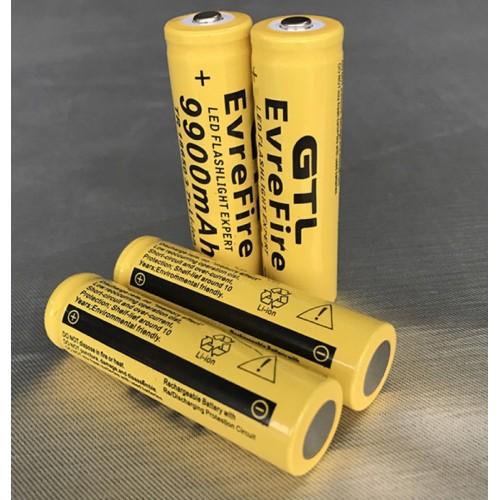 2 X BATTERIA 18650 3.7V 9900Mah RICARICABILE PILE TORCIA batterie AVVITATORE led
