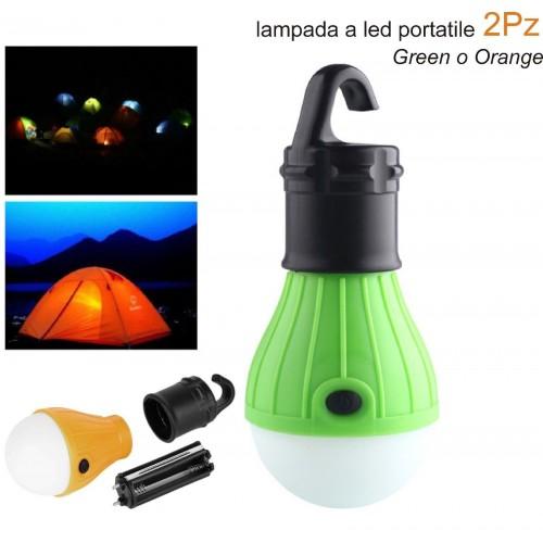 2 lampade lampadina a led portatile da campeggio pesca tenda escursione lanterna