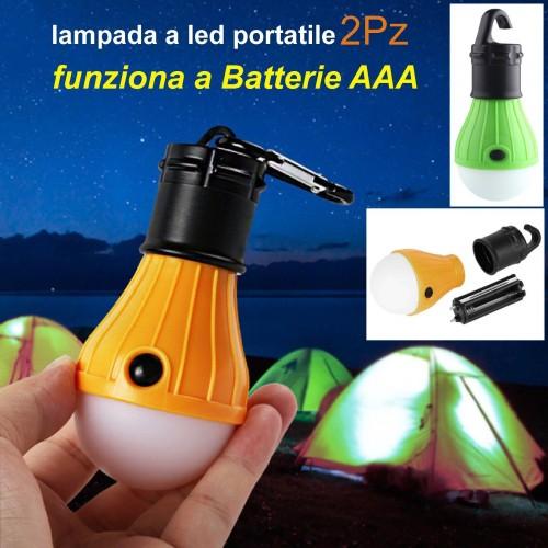 2/4/10 pz lampada a led portatile da campeggio pesca tenda escursione lanterna