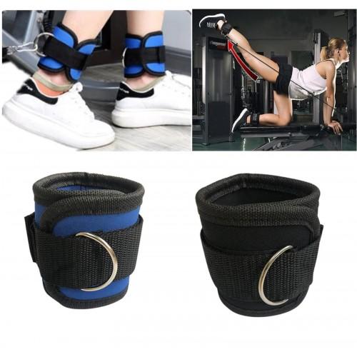 2PZ Cinturini alla Caviglia Fitness PALESTRA Sollevamento pesi CINGHIE ESERCIZI
