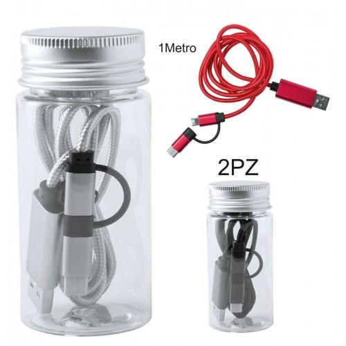 2Pz Cavo USB ricaricabile caricabatteri Type-C Lightning per Samsung iphone