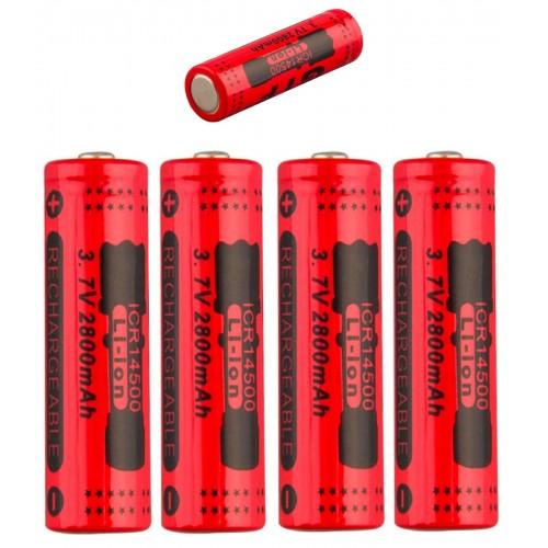 2X 4x 8x BATTERIA 14500 3.7V 2800 MAh RICARICABILE PILE batterie per telecomando