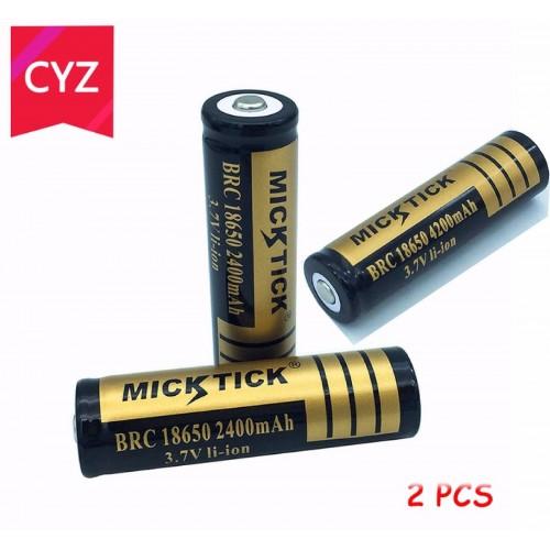 2X BATTERIA 18650 3.7V 2400 MAh RICARICABILE PILE TORCIA batterie AVVITATORE led