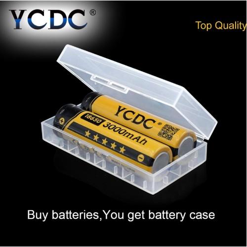 2X BATTERIA 18650 3.7V 3000 MAh RICARICABILE PILE TORCIA batterie AVVITATORE led