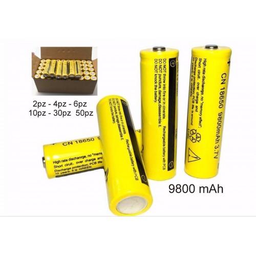 2pz 10pz 30pz BATTERIA 18650 3.7V 9800Mah RICARICABILE PILE batterie AVVITATORE