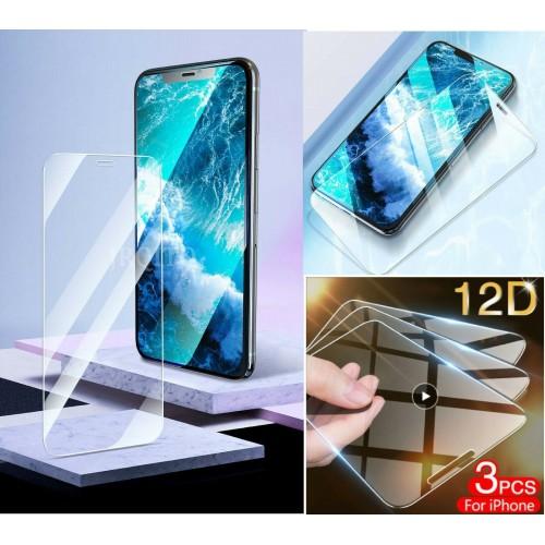 3PZ pellicola vetro temperato HD per Apple iphone 6 7 8 Plus X XS Max 11 Pro 12