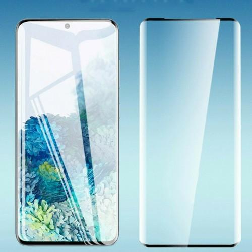 3Pz Pellicola Vetro temperato curvo ai lati protezione 100% per Samsung S20 Plus