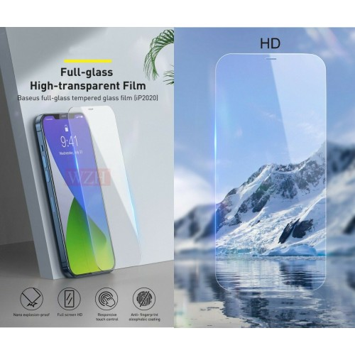3Pz Pellicola vetro temperato copertura 100% per Apple iphone 12 mini pro max SE