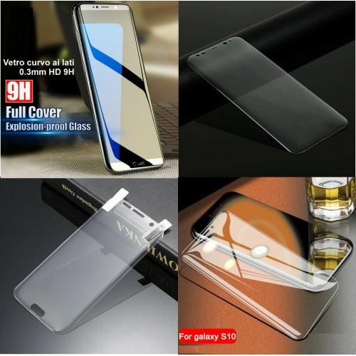 3Pz Vetro temperato lati curvi per Samsung S7Edge S8 S9 S10e Plus S20 FE S21