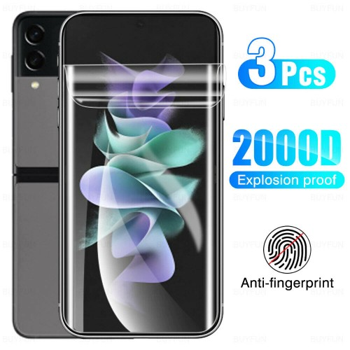3pz Pellicola morbida protezione in hydrogel lati curvi per Samsung Z Flip 3 5G