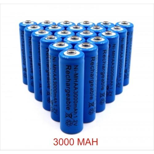 4PZ Batteria Ricaricabile pile AA 3000 mAh NI-MH 1.2V Qualità Rechargeable Batt