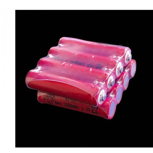 4PZ Batteria Ricaricabile pile AAA 1900 mAh NI-MH 1.2V Qualità Rechargeable Batt