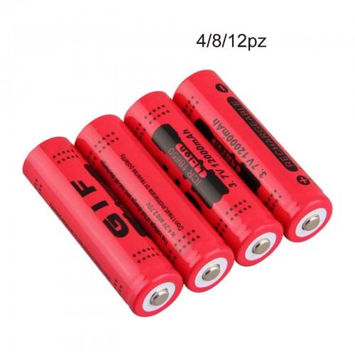 4x BATTERIA 18650 3.7V 12000Mah RICARICABILE PILE TORCIA batterie AVVITATORE led