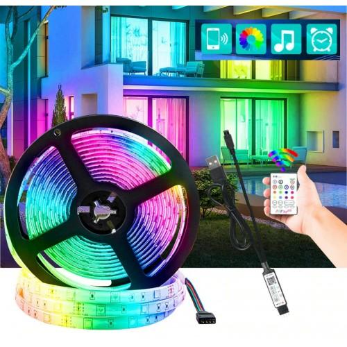 5V 24V USB LED Strip lampada RGB 30LEDS 5050 1M 2M 3M 4M 5M nastro + telecomando