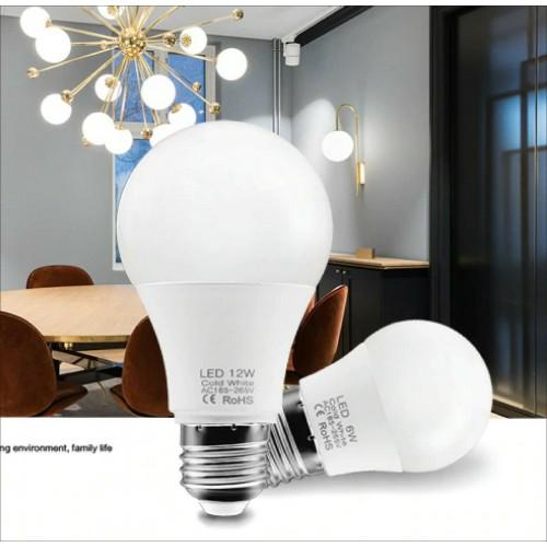 6Pz LAMPADINA a LED E27 AC200-240V 3W 6W 9W 12W 15W 18W 20W risparmio energia