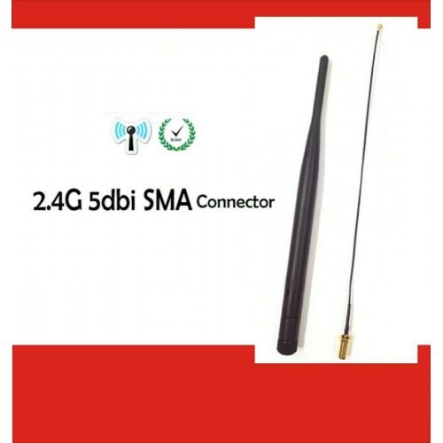 Antenna 2.4 GHz wifi 5dBi router + 21 centimetri PCI u. FL IPX Cavo a spirale