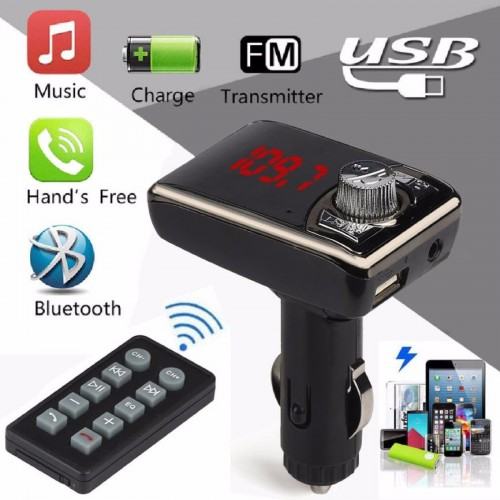 Audio Connect USB VIVAVOCE UNIVERSALE AUTO bluetooth FM Lettore MP3 Handfree