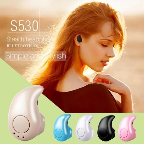 Auricolare 4.0 mini stereo Bluetooth Wireless Vivavoce Auto Cuffie con microfono