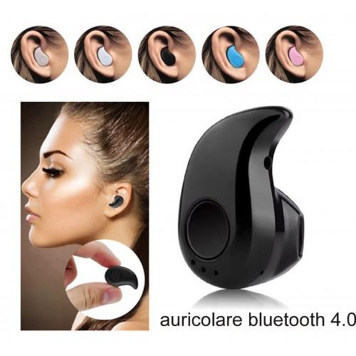 Auricolare 4.0 mini stereo Bluetooth Wireless universale Vivavoce Auto Cuffie