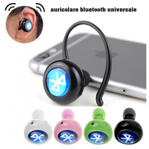 Auricolare 4.0 mini stereo Bluetooth Wireless universale sport driving Cuffie