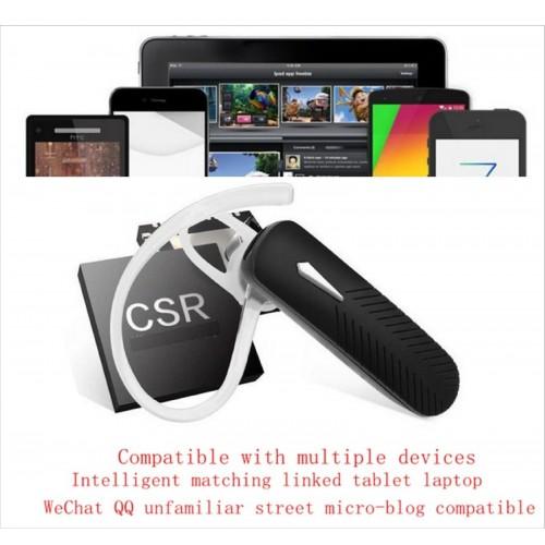 Auricolare senza fili Bluetooth 4.0 universale Auto Microfono Headset Cuffie