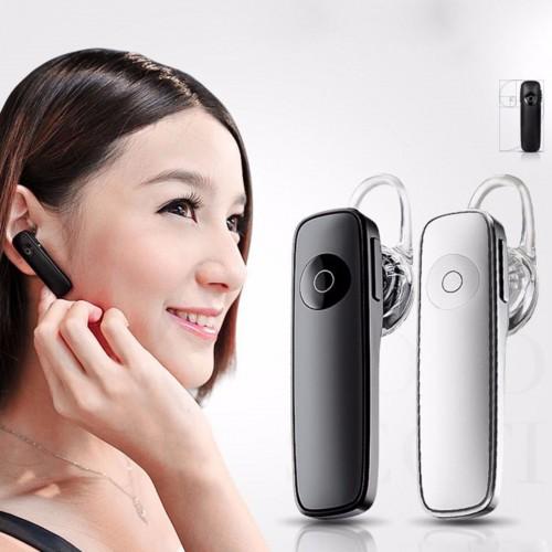 Auricolare senza fili Bluetooth Wireless Vivavoce Auto Microfono Headset Cuffie