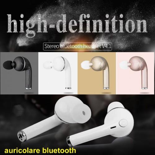 Auricolare senza fili Bluetooth universale Vivavoce Microfono Headset Cuffie