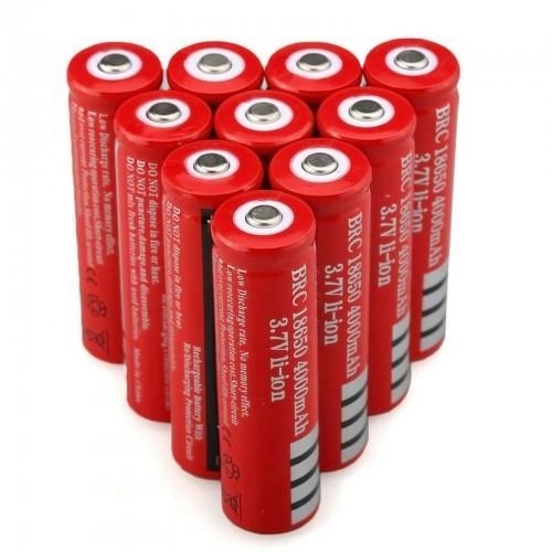 BATTERIA 18650i 3.7V 4000Mah RICARICABILE PILE TORCIA batterie AVVITATORE led