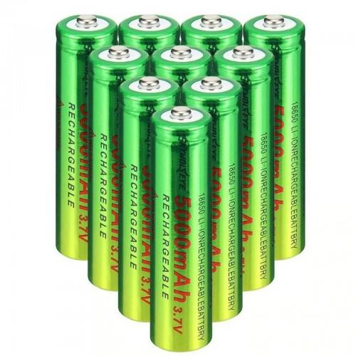 BATTERIA 18650i 3.7V 5000Mah RICARICABILE PILE TORCIA batterie AVVITATORE led