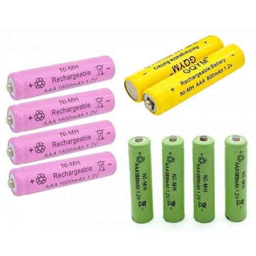 Batterie Ricaricabile pile AAA 800-1600-1800 mAh NI-MH 1.2V telecomando giochi