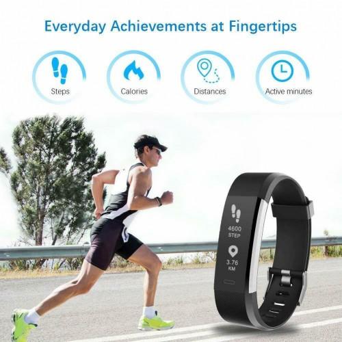Bracciale Smartwatch Bluetooth 5.0 sport fitness Cardiofrequenzimetro uomo donna
