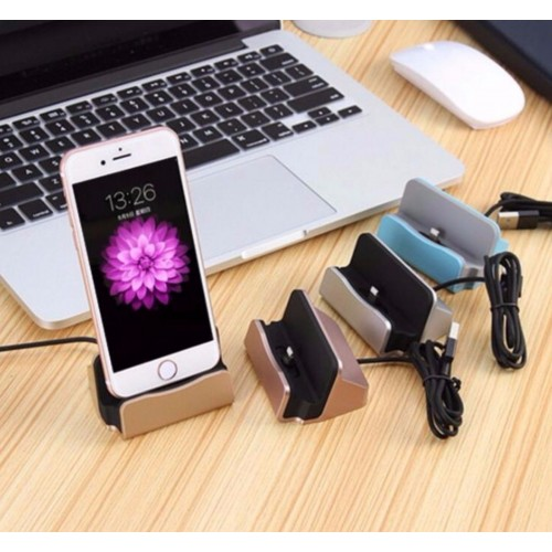 CARICA BATTERIA DA TAVOLO dock station per Apple Iphone 5 5s 6 6s 7 8 & Plus X