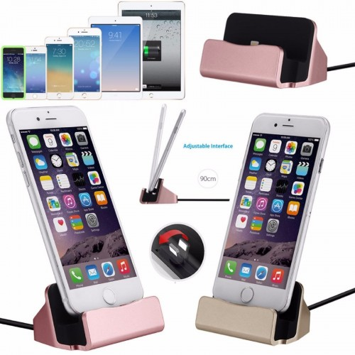 CARICABATTERIA DA TAVOLO dock station per Apple Iphone 5 5s 6 6s 7 8 Plus X Ipad
