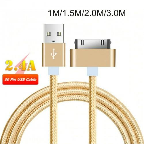 CAVO dati USB 30PIN per Apple 3G/3S iPhone 4/4S iPad 2/3 iPod ricarica 3 Metri
