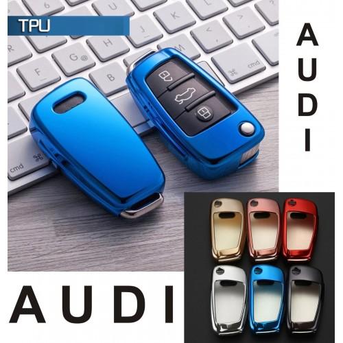 COVER CHIAVE AUDI A1 A2 A3 A4 A5 A6 A7 Q5 Q7 TT R8 3 TASTI TELECOMANDO silicone