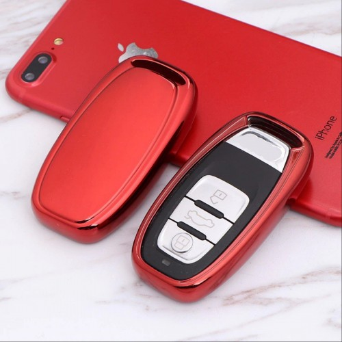 COVER CHIAVE AUDI A4 A4L A5 A6 A7 A8 Q5 S5 S6 RS7 3 TASTI TELECOMANDO silicone